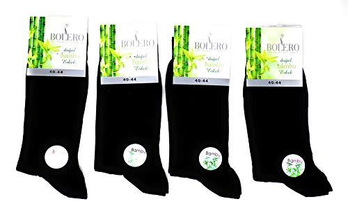 4 pairs Antibacterial 80% Organic Bamboo Socks Breathable,Cycling, No Sweat Design Socks Mens, Bamboo Crew Socks, Bamboo Yoga Socks (Jet Black)