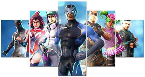 fortnite poster 5 Piece Cool Game Roles Creative Video Game Canvas Wall Art Unframed for Home Wall Decor