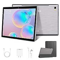 4G Tablet touch da 10,1 pollici, Android, 8 core CPU, 64 GB + 128 GB, 4 GB RAM, Bluetooth Wi-Fi, schermo IPS HD, GPS, 8000 mA, tipo C, colore: grigio