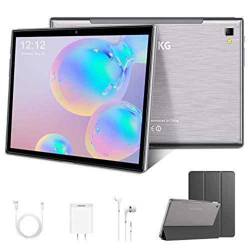 Tablet 10.1 Zoll 4G LTE Tablet-PC, Octa Core Android 9.0 Zertifiziert von Google GMS 4GB RAM, 64GB ROM Tablet IPS HD, 8000 mAh, Doppelt Lautsprecher Stereo,WiFi/Bluetooth/GPS/Type-c (Grau)