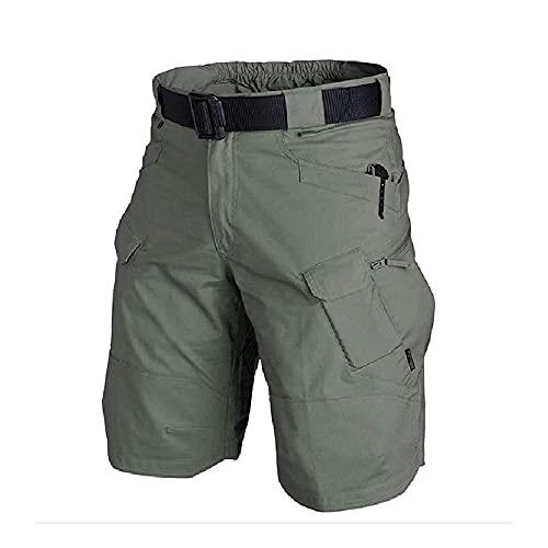 MengYer Hombre Pantalones Cortos Tácticos Impermeables, Shorts Tácticos de Trabajo de Carga Casual Ligeros Pantalones Cortos de Senderismo Duraderos para Hombres