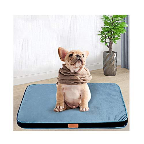 Mapa De Cama De Perro, Espuma De Memoria Camas para Perros Transpirables, Colchón Cómodo del Fondo para Perros, Camas para Pequeña Mascota Media (M L),L 52 * 42 * 4cm