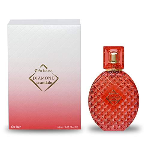 Aristea - Damen Eau de Parfum - Diamond Scandalo - süßes Parfüm - unvergesslicher Duft für Frauen - Perfume for Women and Girls (1 x 60 ml)
