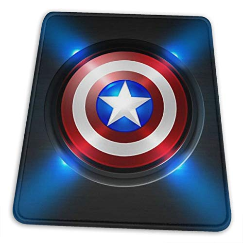 Captain America Mouse Pad Mouse Mat with Stitched Edge Non-Slip Rubber Base Large Mouse Pads for Laptops Computers and PCs 12 X 10 X 0.12 Inches