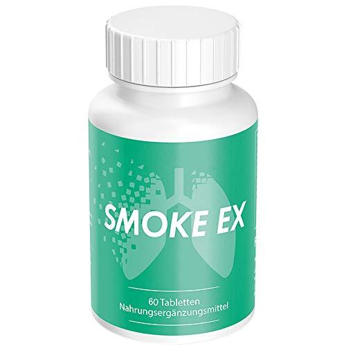 Smoke Ex | Rauchentwöhnung Hilfsmittel | Aufhören mit Rauchen (1 Dose á 60 Tabletten)