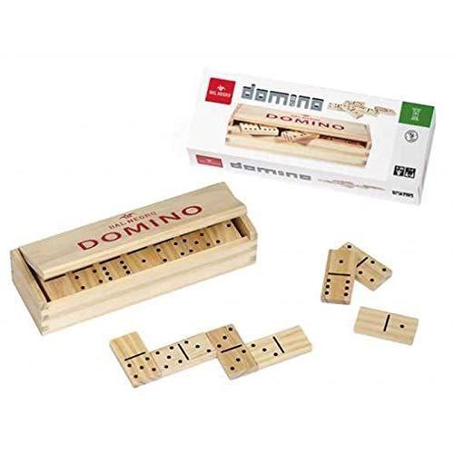 Dal Negro Legno con Scatola Giochi da Tavolo Domino/Shangai, Multicolore, 53817