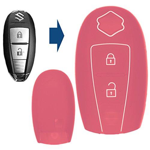 Soft Case Schutz Hülle Auto Schlüssel Smartkey Pink für Suzuki Swift Vitara Ignis Jimny Baleno SX4