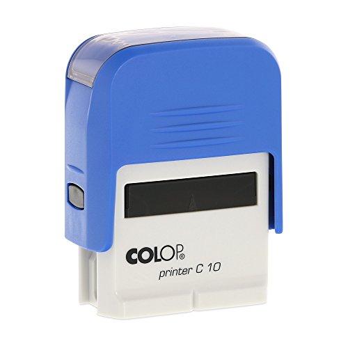 Stempel Colop Printer C10 custom (27x10 mm - 3 Zeilen) mit individueller Textplatte Farbe Blau