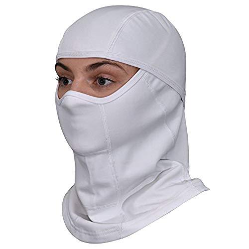 White Balaclava Ski Mask - All Season Full Face Mask – Best For Summer and Winter Women and Men +...