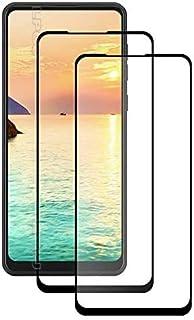 قطعتان من واقي الشاشة لسامسونج جالكسي ايه 21 اس من الزجاج المقسى بدرجة صلابة 9 كامل بلاصق