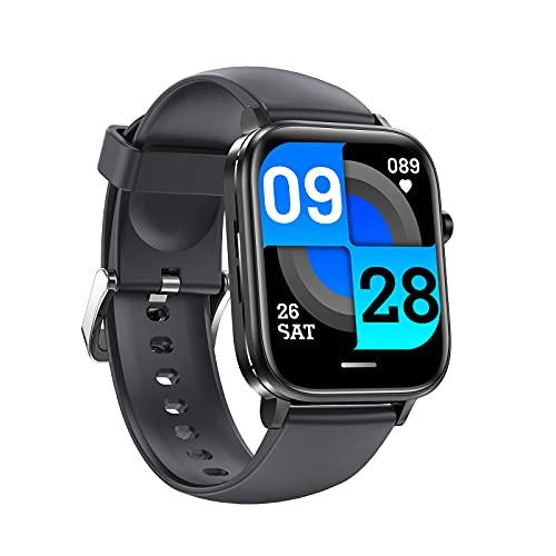 G&UWEI Smart Watch for Men Mujer, Pantalla Táctil Smartwatch, Rastreador De Fitness Impermeable IP68 con Ritmo Cardíaco Y Monitor De Sueño, Reloj Deportivo,Gris
