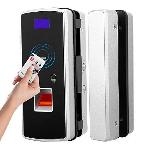 Kennwort-Karten-Verschluss, Multifunktionscode-Verschluss-Knopf Diebstahlsicherungs-intelligente Fingerabdruck-Karten-Notenschlüssellose Tastatur Kein Durchschlags-doppeltes Glastürschloss für Haus/Ho