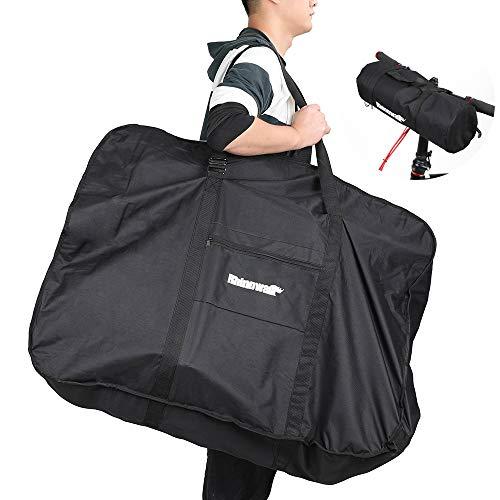 Asvert Fahrrad Transporttasche,wasserdichte Fahrradtasche für Fahrräder, 22-27,5 Zoll, Fahrrad Transport Abwahrungstasche Gepäcktasche für Mountainbike (H80-W40-L98, 26 Zoll Faltrad)