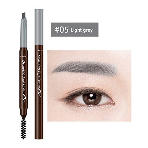 Cutelove Eyebrow Pencil With Brow Brush,Light Grey, 0.2g