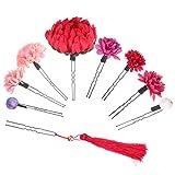 PRETYZOOM 9 Piezas Flor Japonesa Horquillas para El Cabello Kimono Pinzas para El...