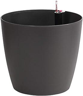 Dehner Mila - Maceta con Sistema de autorriego, 30 cm de diámetro, 26 cm de Altura, plástico, Color Antracita