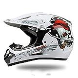 WYWZDQ - Casco para motocross para motocross, motocross, motocross, ATV, casco D. O. T, certificado Rockstar multicolor, con gafas (S, M, L, XL)