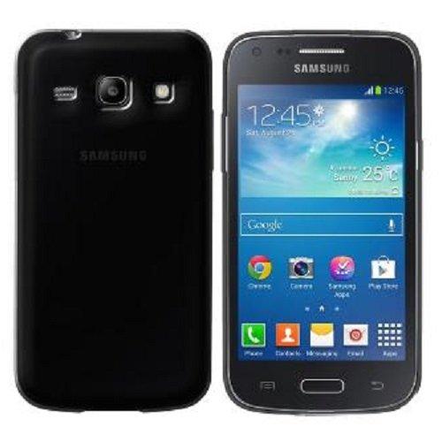 Diva Custodia in Silicone/Silicone Case Samsung G350 Galaxy Core Plus (Nero Trasparente)