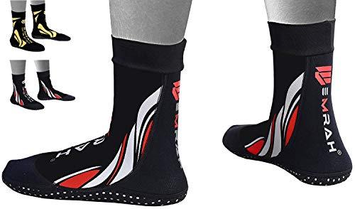 EMRAH Neopren-Knöchel-MMA-Grifftraining Kampf Socken Boxen Fußstützen ˈKnöche lSchuhe Guard Pad MMA Socks (Schwarz, Klein)