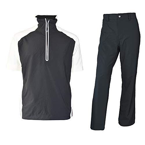 Find Cheap fit space Men's Waterproof Golf Jacket and Pants for All Sports Rain Suit