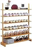 Organizador de Zapatos Almacenamiento de Zapatos de 6 Niveles Zapato de bambú Organizador de Zapatos Multiuso Torre de Zapatos Soporte para el Vestuario de guardarropa Dormitorio de vestíbulo