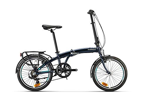 Conor Denver Plegable Bicicleta, Juventud Unisex, Azul (Azul), Talla Única