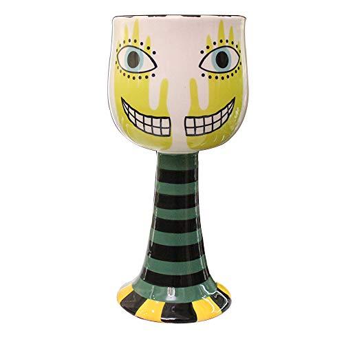 L-H-X Verres à vin, gobelets peints Mode Tasses à crème glacée personnalisées tasses à café Tasses à vin en champagne Tasses en céramique créatives Peintures artisanales Underglaze Mode créatif Grande