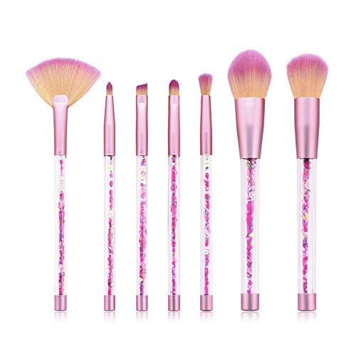 GONGFF Les pinceaux de Maquillage définissent la poignée Transparente pour la Base de Poudre composent Le Pinceau
