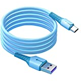 Type C Câble de charge Câble USB Silicone Liquide 2M Micro Chargeur Cordon 5A Chargement rapide...
