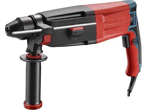 Extol Premium–Cincel de impacto Hammers (PHD 4), 1050W, SDS Plus, 3,4J con maletín de transporte, 1pieza, rojo, 8890250