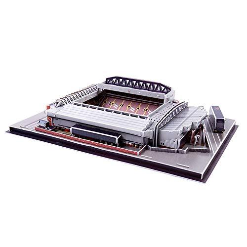 SDBRKYH Estadio Anfield Rompecabezas 3D, Estadio de Fútbol Juegos de construcción 3D Construcción Juguetes Liverpool Football Club Inicio Modelo Regalo conmemorativo Ventilador
