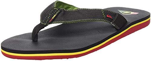 Quiksilver Molokai Abyss, Zapatos de Playa y Piscina Hombre, Verde (Green/Black/Green Xgkg), 43 EU