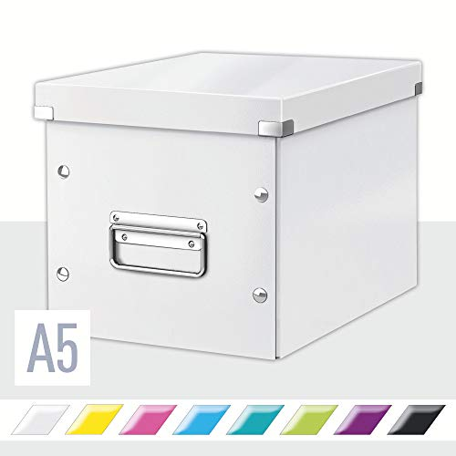 Leitz Caja de Almacenaje Mediana en Forma de Cubo, Blanco,