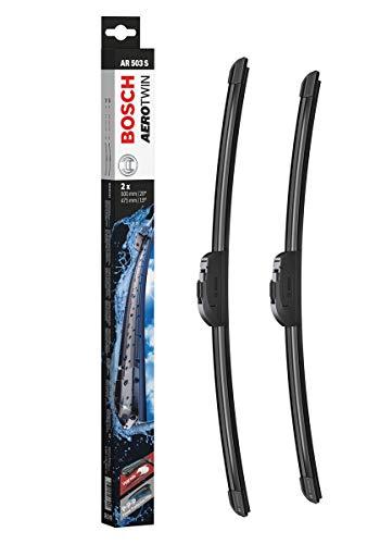 Bosch Balais d'Essuie–Glace Plats Aerotwin Retrofit Ar503S, Longueur : 500mm/475mm – 1 Paire de Balais Avant