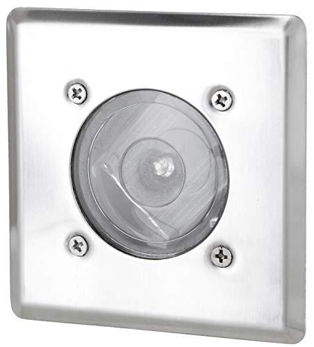 Lampe solaire LED encastrable au sol IP44 – Acier inoxydable rectangulaire résistant aux piétinements – Blanc froid