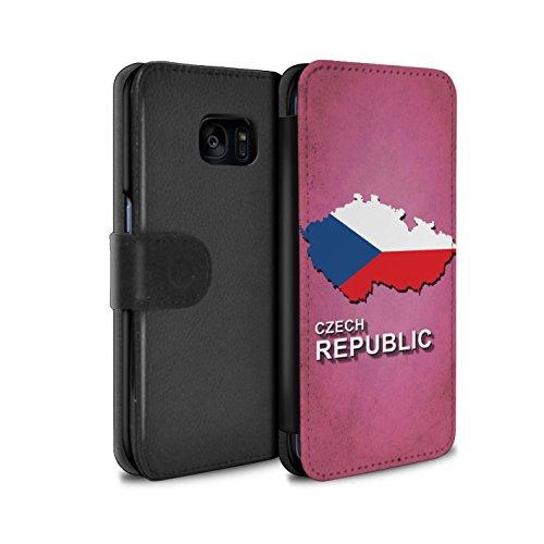 Stuff4® PU Pelle Custodia/Cover/Caso/Portafoglio per Samsung Galaxy S7 Edge/G935 / Ceco/czechian/Nazioni Bandiera Disegno