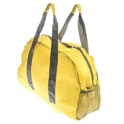 Se bg-db103y ligero amarillo resistente al agua bolsa de viaje plegable para camping, Gimnasio, viaje y almacenamiento