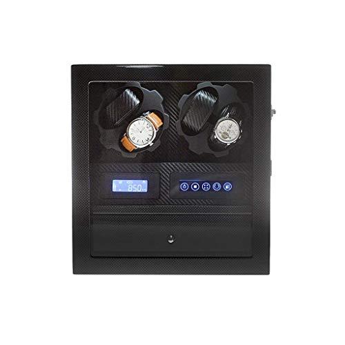 WXDP Bobinadora automática del reloj,Rotar cajas para 4 es con luz LED y panel de control LCD,Cajón de almacenamiento