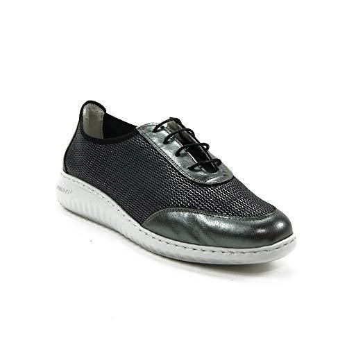 Notton - Zapato Casual 3119 para: Mujer Color: Plomo Talla: 40
