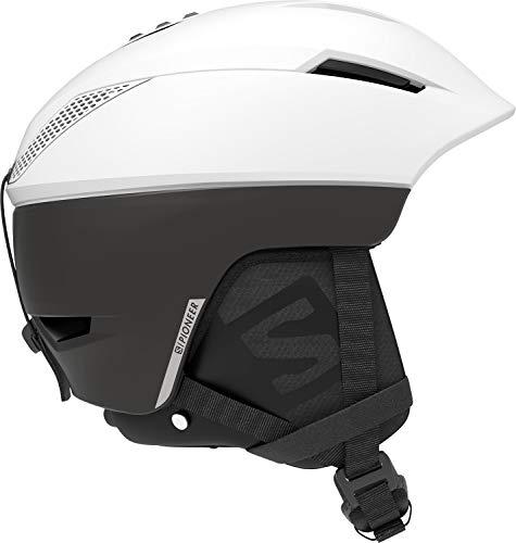 Salomon Herren Ski- und Snowboardhelm, Custom Air, EPS 4D-Innenschaum, Größe XL, Kopfumfang 62-64 cm, Pioneer C. Air, weiß/schwarz, L40894500