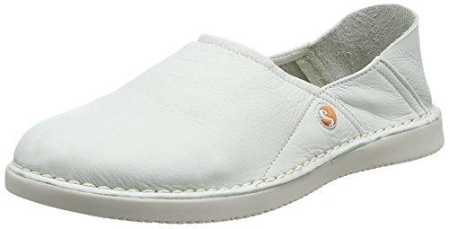 Softinos Damen TUP452SOF Smooth Slipper, Weiß (White), 36 EU