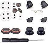 for Sony Playstation 4 PS4 for Dualshock 4 L1 R1 L2 R2 Trigger Springs Buttons + 2 Joystick Thumb Sticks + 2 Joystick Silicone Caps + 2 Springs + 1 Screwdriver + 1 Set Silicone Conductive Rubber Pads