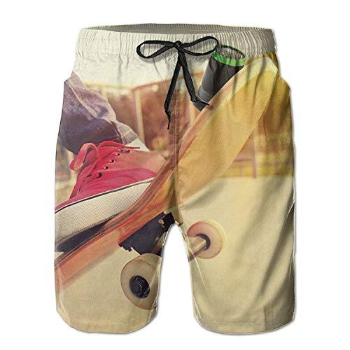 surce mannen leuk skateboard sneldrogend hardlopen waterdichte strand shorts slipje