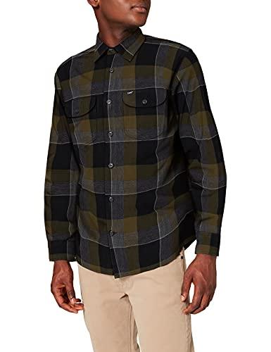 Lee Worker Shirt Camisa, Verde Oliva, S para Hombre