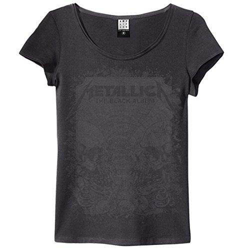 Amplified Girl Shirt Metallica Black Album Charcoal (medium)