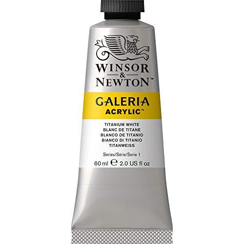 Winsor & Newton 2120644 Galeria Acrylfarbe, hohe Pigmentierung, lichtecht, buttrige Konsistenz, 60 ml Tube - Titaniweiß