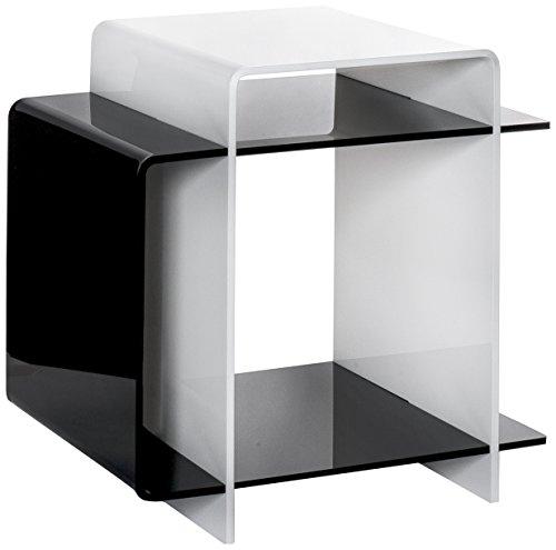 Iplex Design Table décorative 70 's Blanc/Noir