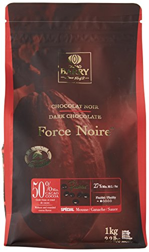 CACAO BARRY 50% Min Cacao Chocolat Force Noire Pistoles 1 kg