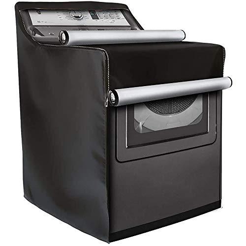 FreeLeben Copertura per lavatrice, protezione solare antipolvere impermeabile per lavatrice, grigio/nero 74 * 71 * 101 cm