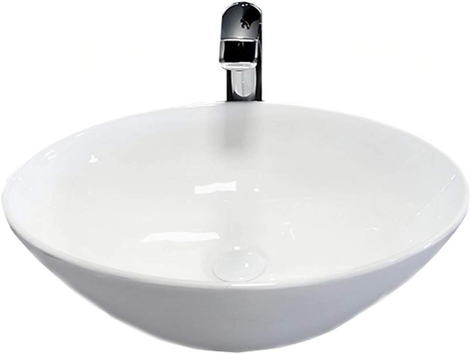 Hana Design Ceramic Oval Wash Basin for Bathroom Guest Toilet 56 cm x 37.8 cm x 14.8 cm